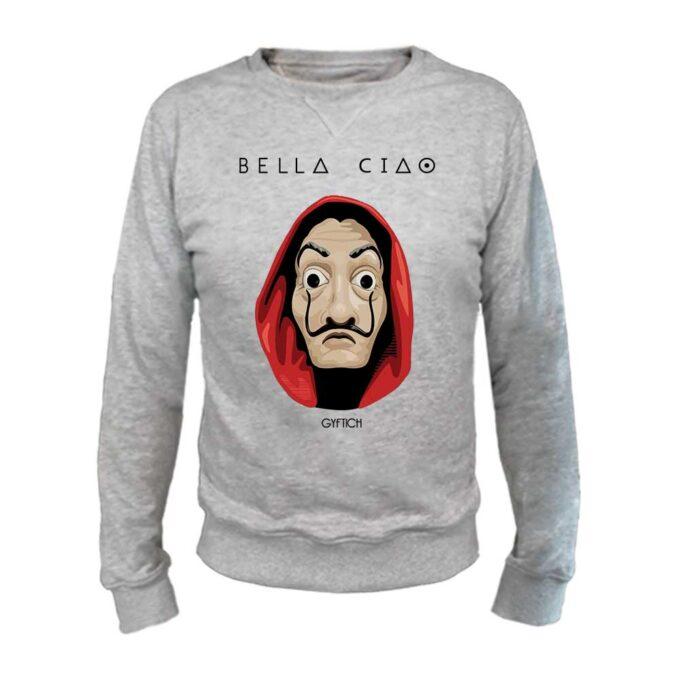 Bella Ciao sivi okrugli duks