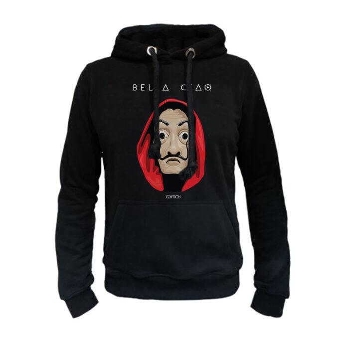 Crni duks kapuljaca BellaCiao